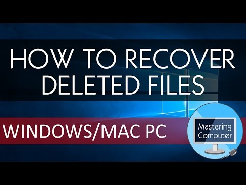 HOW TO RECOVER DELETED FILES || WINDOWS/MAC PC ||