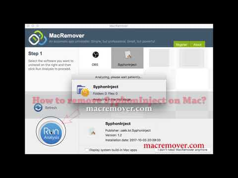 How to Remove syphonInject on your macOS and Mac OS X?