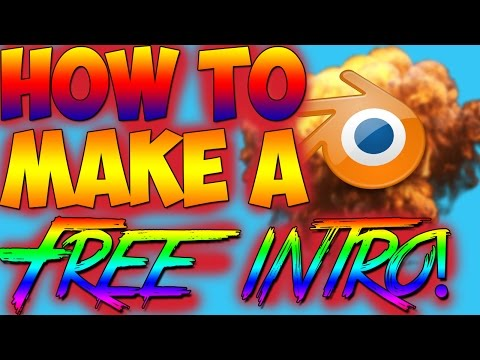 How To Make A Free Intro!Blender Tutorial!