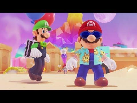 Super Mario Odyssey - Luigi's Balloon World #2 (Mario Sunshine Costume)