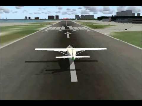 Crosswind Landings at Meigs Field (Prop Planes)