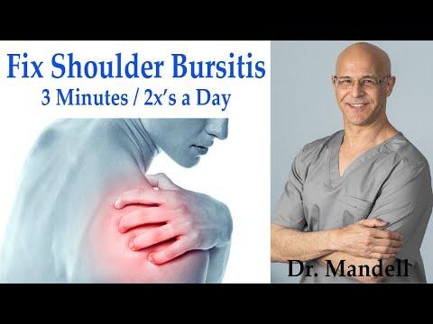 Fix Shoulder Bursitis:  Decompression Exercise in 3 Mins/2x's Day (Revised) - Dr Alan Mandell, DC