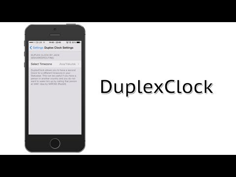 Show Multiple Time Zones in the Status Bar | DuplexClock Cydia Tweak Review