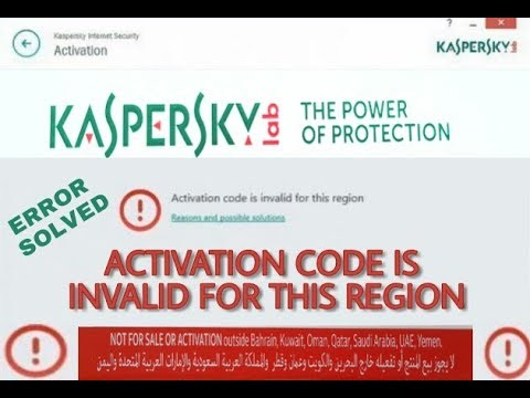 How to Activate Kaspersky Activation Code Is invalid for this region (without using any VPN )