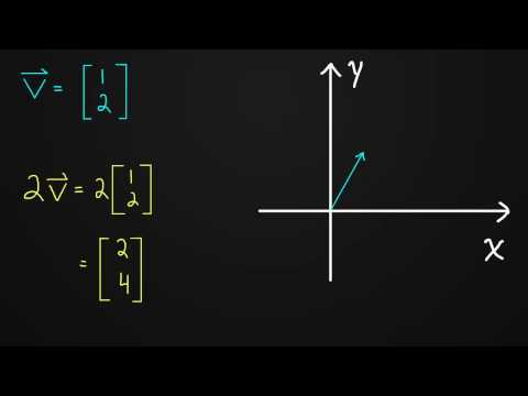 1.1 Multiplying a Vector by a Scalar