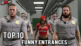 "WWE 2K17 - Top 10 Craziest Funny Entrances ""GIMMICK SWAP"" Reigns, Strowman, Taker & More (PS4 & XB1)"