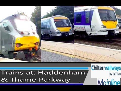 Trains at: Haddenham & Thame Parkway - CML - 24/8/18