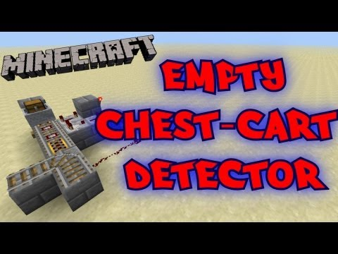 Empty Chest/Hopper-Minecart Detector - Tutorial - Minecraft