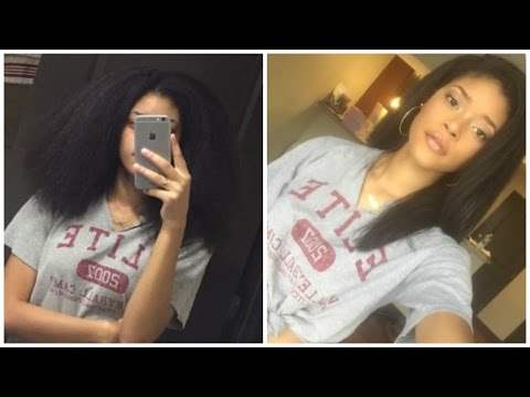 How I Blow Dry and Straighten my Natural Hair