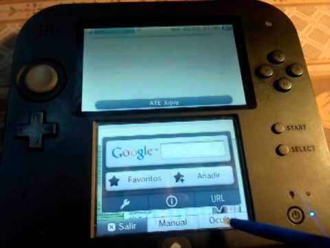 Nintendo 2ds configuracion y navegacion en internet