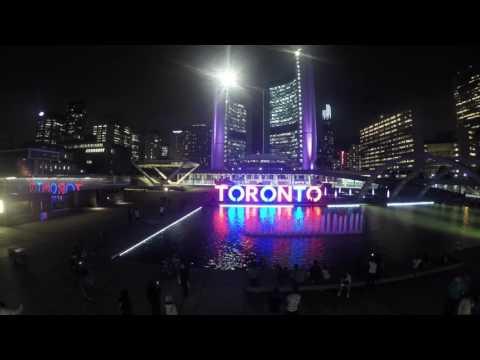 Toronto Nathan Phillips square night timelapse