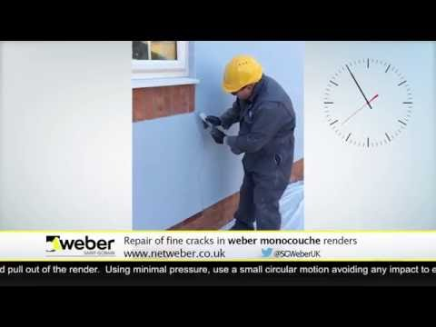 Monocouche Render Crack Repair — Weber Renders & Decorative Finishes
