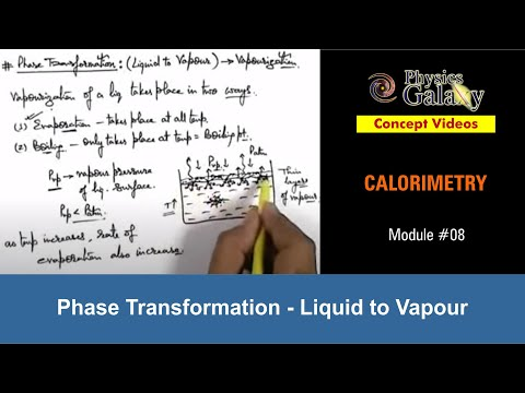 8. Physics | Calorimetry | Phase Transformation : Liquid to Vapour | by Ashish Arora