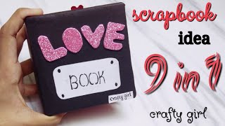 love book scrapbook by crafty girl