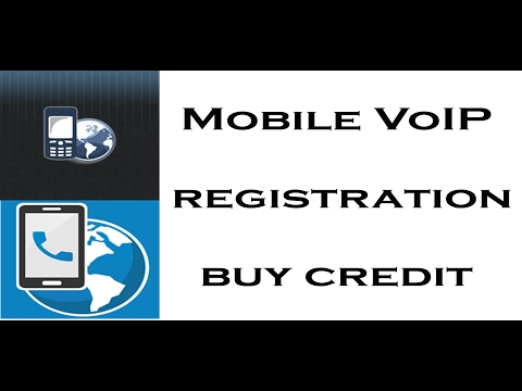 Mobile VoIP registration and buy credit