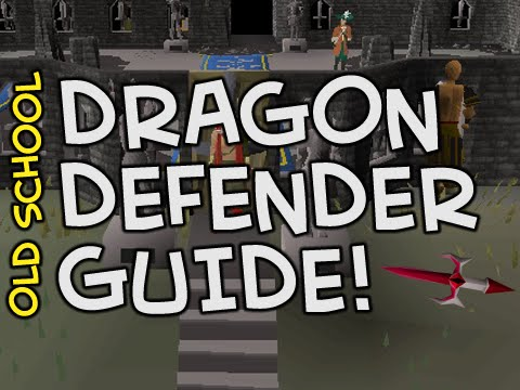 Old School RuneScape Dragon Defender/Warriors Guild Guide - From no defender through to Dragon!