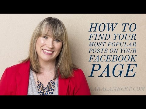 Kara Lambert View Most Popular Facebook Page Posts