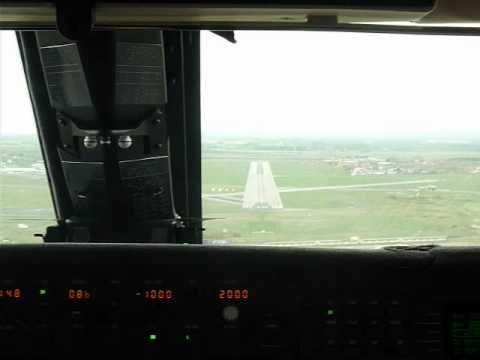Blackpool Airport Landing