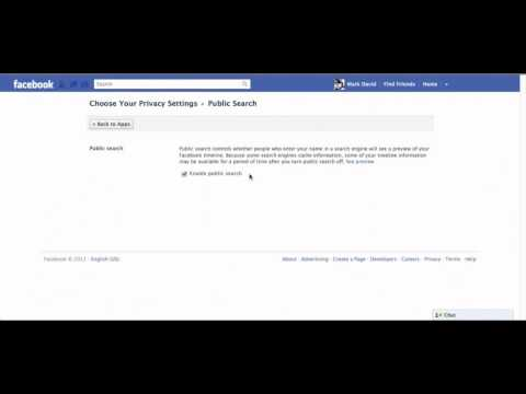 How to Disable Public search of Facebook Profile