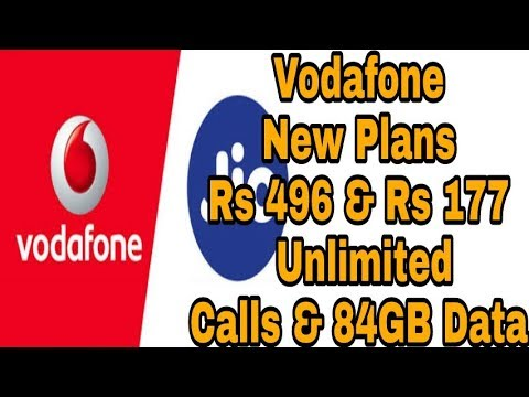 Vodafone Welcome Offer : Vodafone New plan ₹177 & ₹496 offers Unlimited Calls & Data for 84 Days