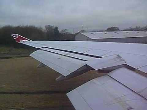 VIRGIN ATLANTIC VS77 Takeoff Manchester UK 747-400 to Barbados