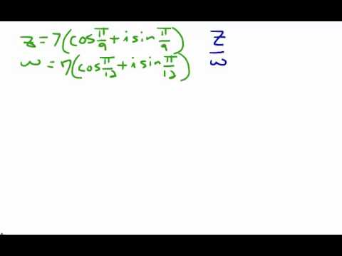 Finding the Product and Quotient of Complex Numbers in Polar Form