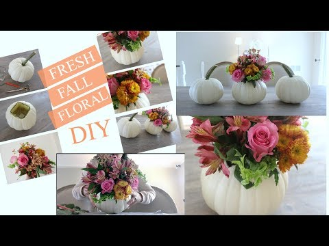 DIY Pumpkin Floral Arrangement !