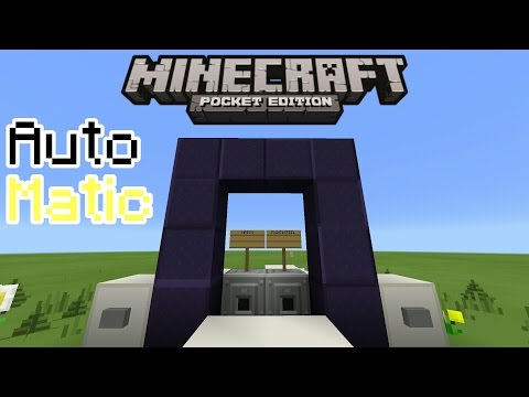 HOW TO MAKE AN AUTOMATIC NETHER PORTAL IN MINECRAFT PE 0.15.3  | MCPE 0.15.3 REDSTONE CREATION