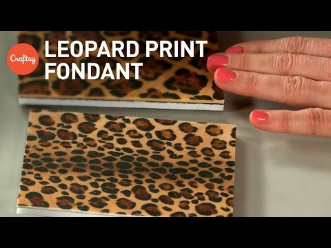 Leopard print fondant (2 ways) for animal print cakes | Jessica Harris Cake Decorating Tutorial