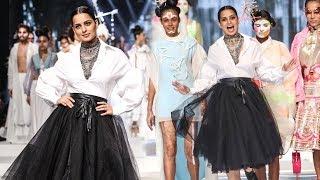 Kangana Ranaut Rampwalk Like A Queen At India Fashion Week 2019 Finale
