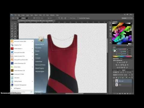display the garment without dress form and change color
