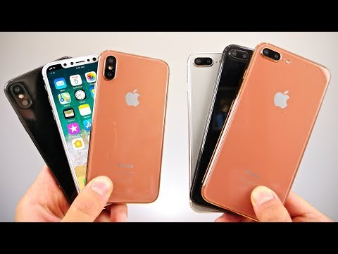 iPhone X, 8 Plus & 8 Model Hands On! Gold, Silver & Space Grey