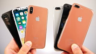 iPhone 8, 7S Plus & 7S Model Hands On! Copper, Silver & Black