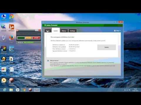 Turn on Windows Defender in Windows 8