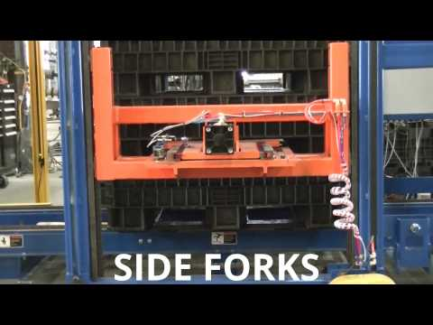 LEWCO Stacker/Destacker with Chain Conveyor