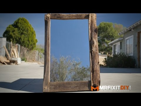 DIY TIMBER FRAMED MIRROR WITH A CHAINSAW!