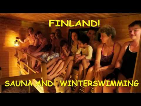 Sauna and Winterswimming in Finland   -   Saunaan ja avantoon!