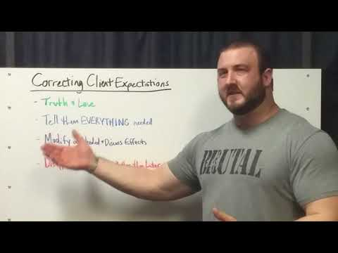 Brutal Iron Gym - Personal Training 101 - Correcting Client Expectations (see description)