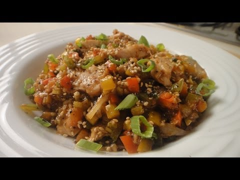 Chicken and Pepper Stir Fry   Sanjeev Kapoor Khazana