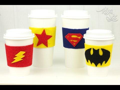 Superhero cup sleeve youtube