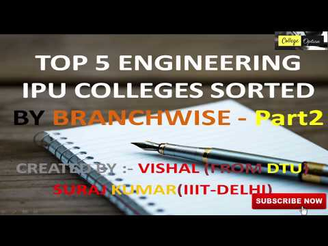 Top 5 IPU Colleges Branchwise 2018 - Part 2 in Hindi - Seats | Fees | Average Package