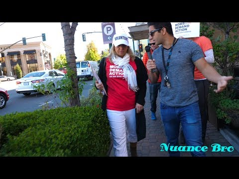 Interviewing Moms at Moms Demand Action Gun Control Protest in Walnut Creek