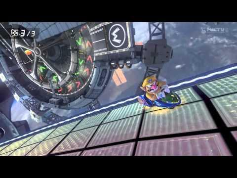 Wii U - Mario Kart 8 Blue dodge using shroom