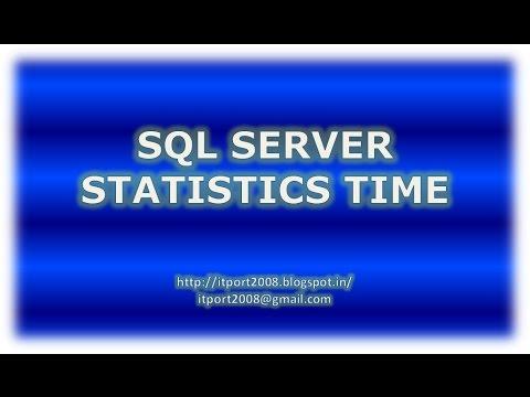 SQL Server Statistics time