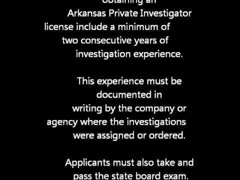 Arkansas Private Investigator license
