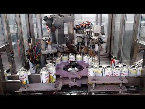 Full automatic Aerosol Filling production line