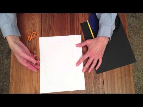 Paper skull pattern