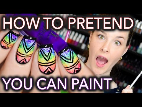 How to PRETEND you can PAINT for nail artists