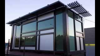 Prefab shipping container home - one cool habitat .com