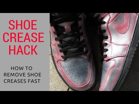 How to remove shoe creases fast | How to Remove leather shoe creases | Shoe Hack | shoe creases hack
